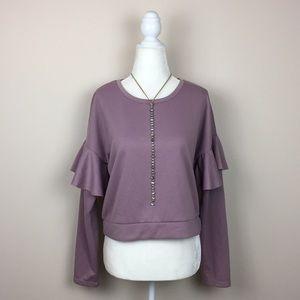 Romeo & Juliet Couture - Ruffle Long Sleeve Shirt